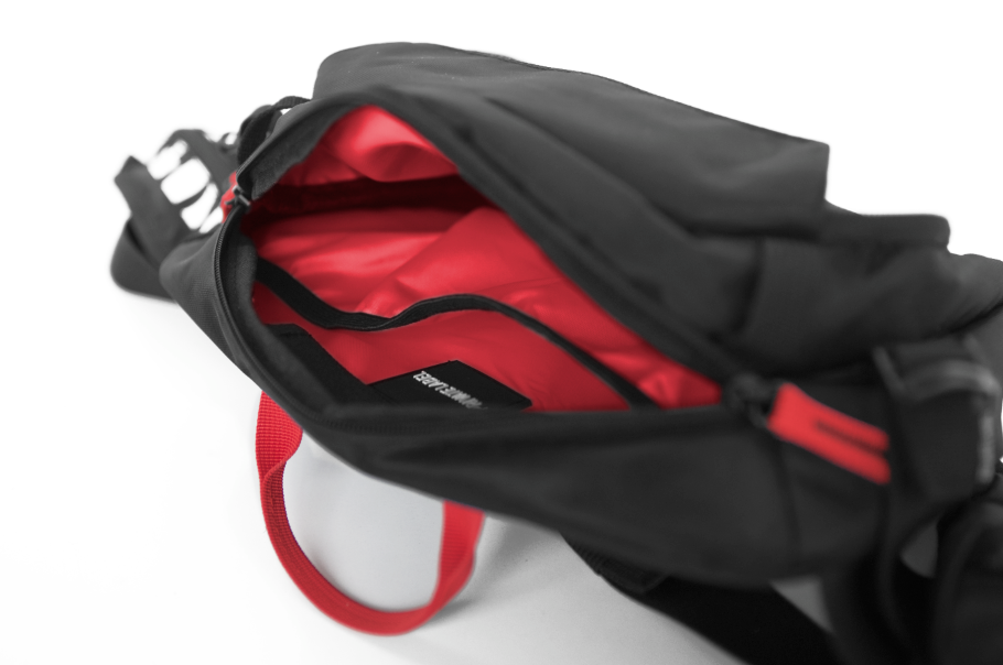 *BLACK / RED - WAIST/SLING BAG