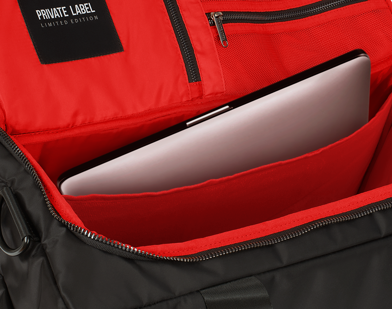 BLACK / RED - DUFFLE (SHIPS OUT MID MAY)