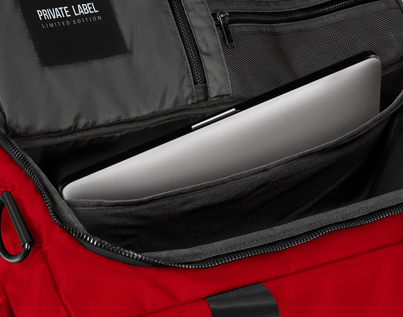 RED / BLACK - DUFFLE