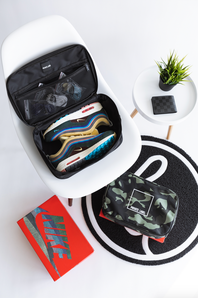 BLACK - TRAVEL / SNEAKER CASE (SHIPS OUT FEB 20TH)