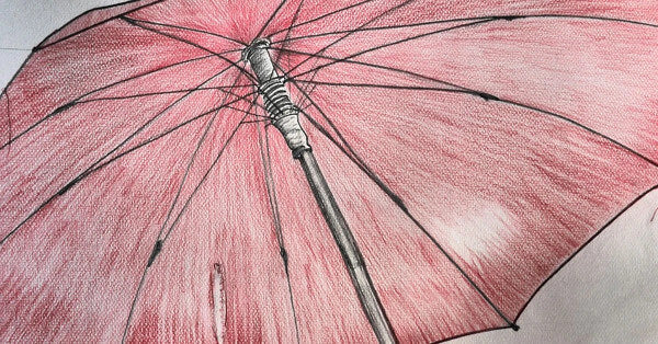 Umbrella Drawing - Pray For Rain