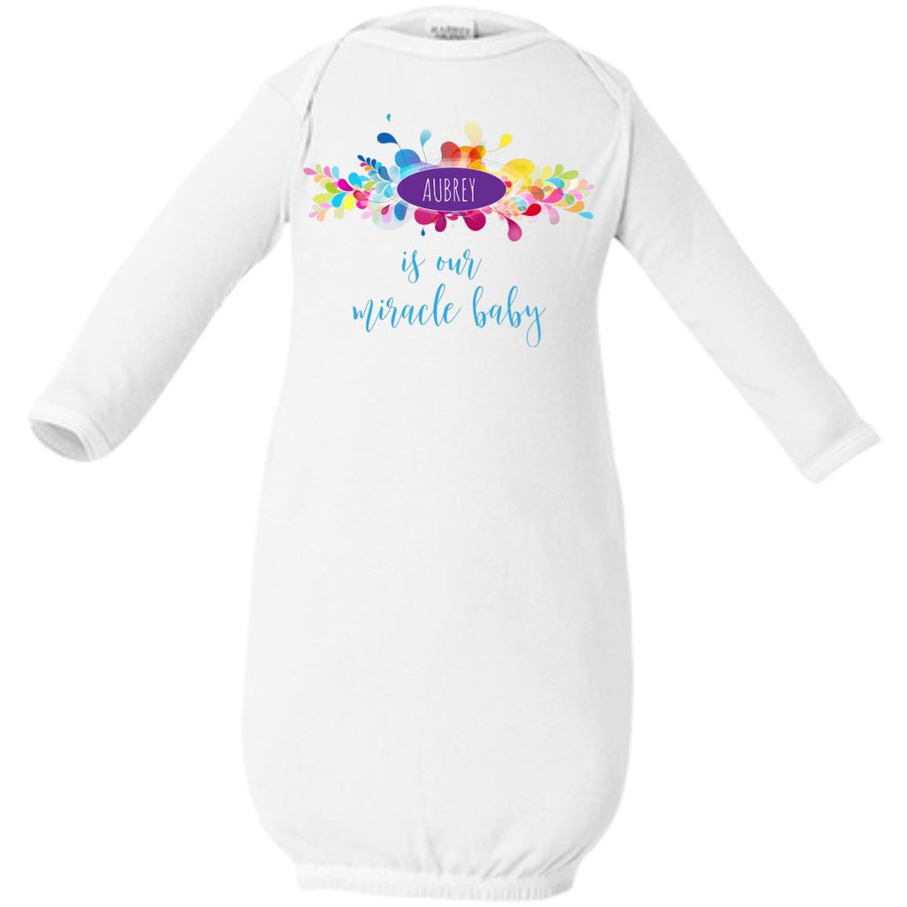 "Personalized ""Is Our Miracle Baby"" Clothes"
