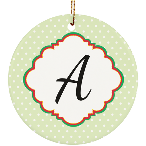 Monogrammed Christmas Ornament