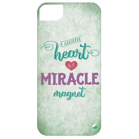 A Grateful Heart is a Miracle Magnet Phone Cases - Green - Phone Cases - iPhone 5 Case - -