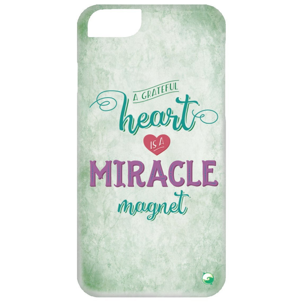 A Grateful Heart is a Miracle Magnet Phone Cases - Green - Phone Cases - iPhone 6 Case - -