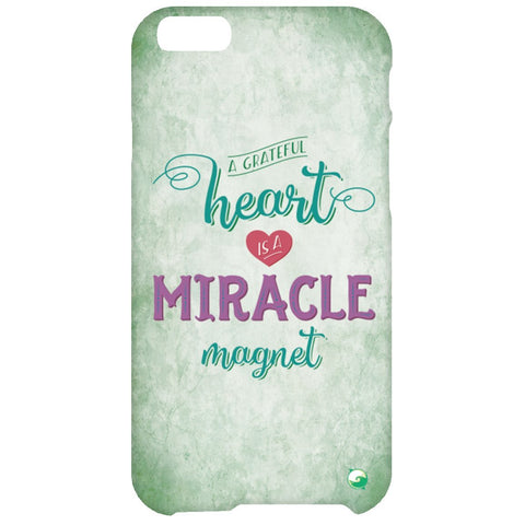 A Grateful Heart is a Miracle Magnet Phone Cases - Green - Phone Cases - iPhone 6 Plus Case - -