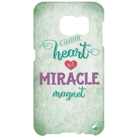 A Grateful Heart is a Miracle Magnet Phone Cases - Green - Phone Cases - Samsung Galaxy S6 Clip - -