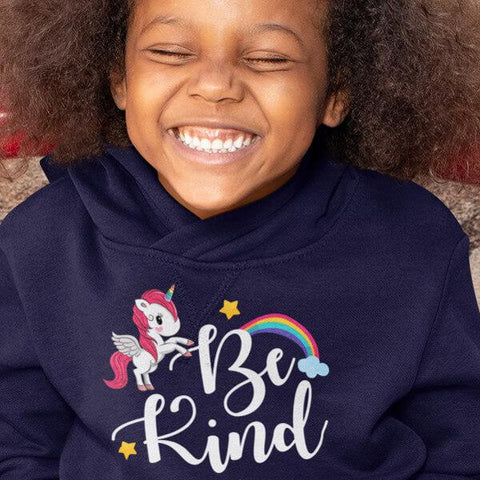 """Be Kind"" Hoodie For Kids & Toddlers - Unicorn-Apparel-The Miracles Store"