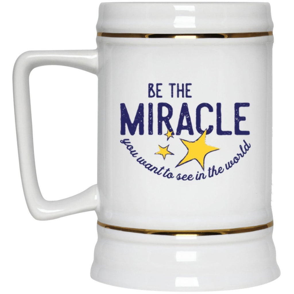 """Be The Miracle"" - 22oz Beer Mug - Drinkware - White - One Size -"