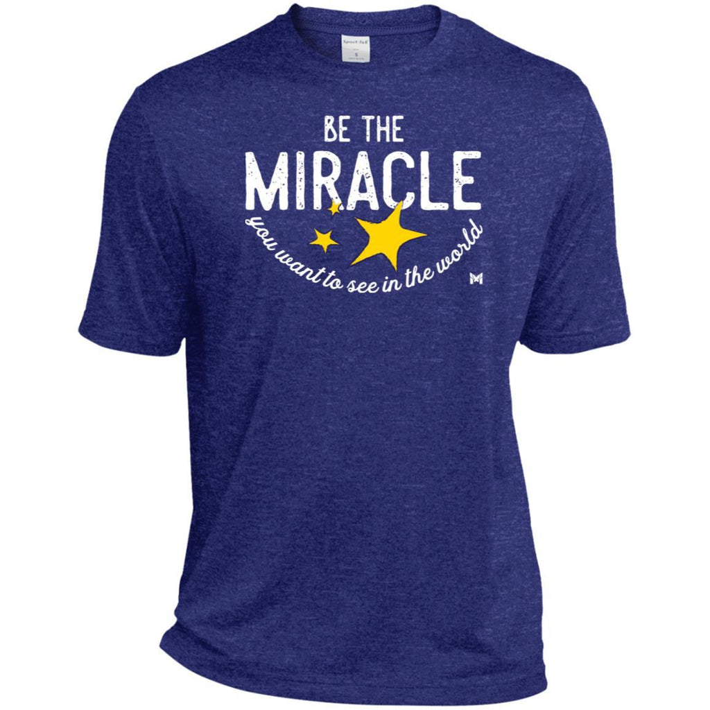 Be The Miracle - Men's Shirts-Apparel-Dri-Fit Moisture-Wicking Tee-Cobalt Heather-S-The Miracles Store
