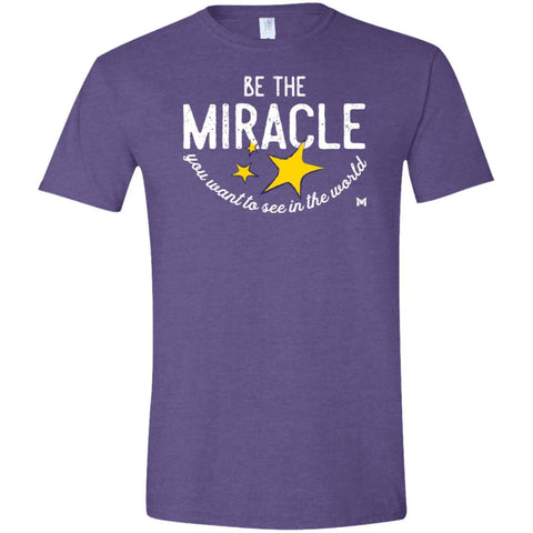 Be The Miracle - Men's Shirts-Apparel-Softstyle Tee-Heather Purple-S-The Miracles Store