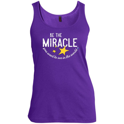 """Be The Miracle"" - Women's Short-Sleeve Shirts - Apparel - Tank Top - Purple - Small"