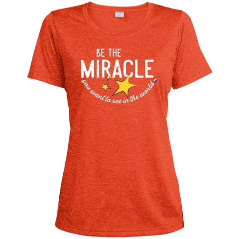 """Be The Miracle You Want to See in the World"" - XXLove Size Shirts - Apparel - Dri-Fit Tee - Deep Orange Heather - X-Large"