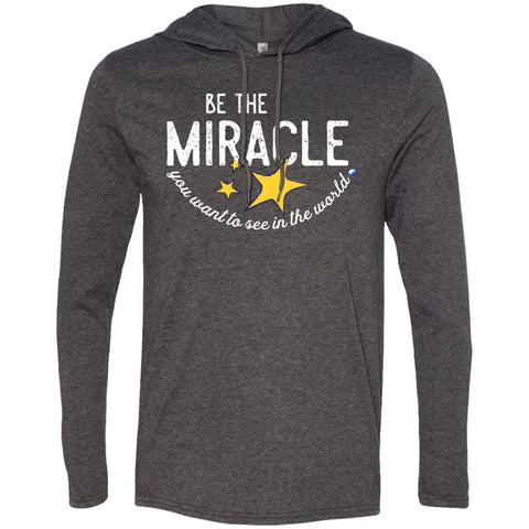 """Be The Miracle You Want to See in the World"" - XXLove Size Shirts - Apparel - Long-Sleeve Tee - Heather Dark Grey/Dark Grey - X-Large"