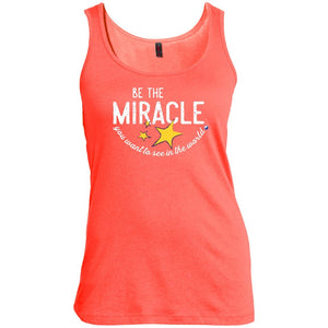 """Be The Miracle You Want to See in the World"" - XXLove Size Shirts - Apparel - Scoop Neck Tank - Coral - X-Large"