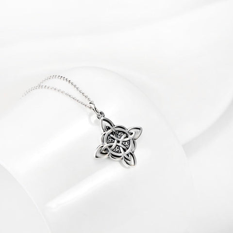 "Beautiful Triquetra ""Trinity Knot"" Spiritual Necklace - .925 Sterling Silver - Jewelry - - -"