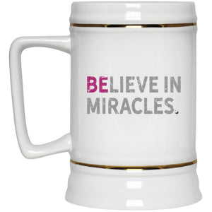 Believe In Miracles - 22oz Beer Mug - Drinkware - Fuscia - -