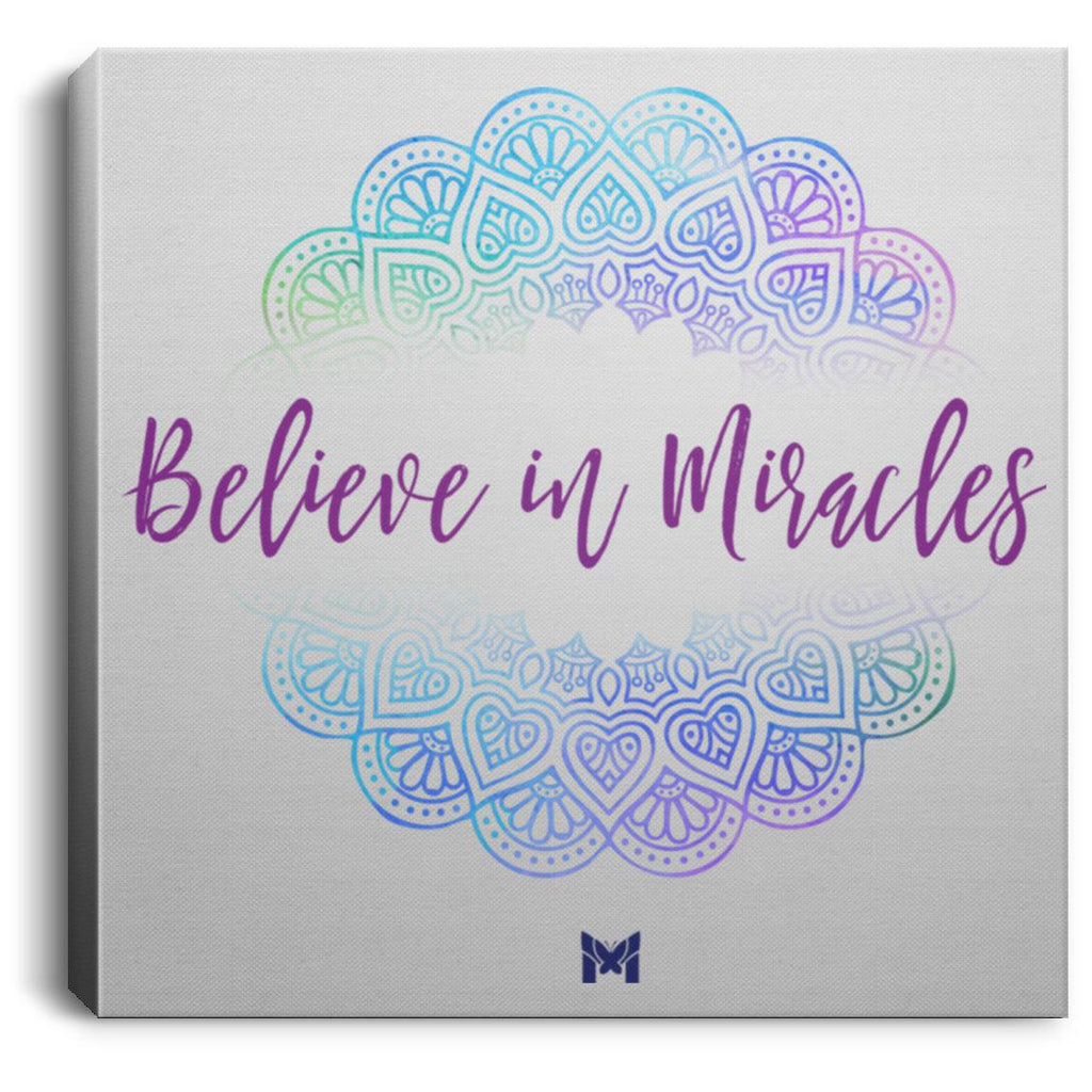 "Believe In Miracles - Canvas Wall Art Print-Housewares-8"" x 8""-The Miracles Store"