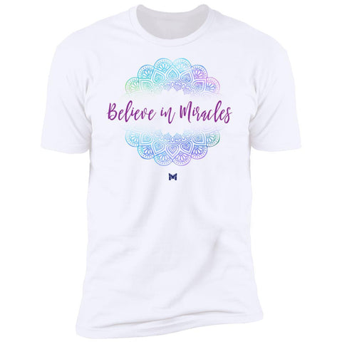 """Believe In Miracles"" Mandala Unisex T-Shirt-T-Shirts-The Miracles Store"
