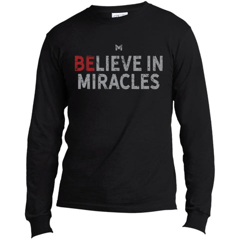 """Believe In Miracles"" Men's Shirts-Apparel-Long-Sleeve-Black-S-The Miracles Store"