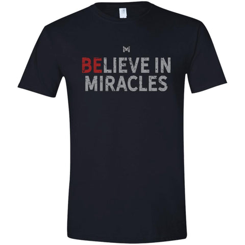 """Believe In Miracles"" Men's Shirts-Apparel-Softstyle T-Shirt-Black-S-The Miracles Store"