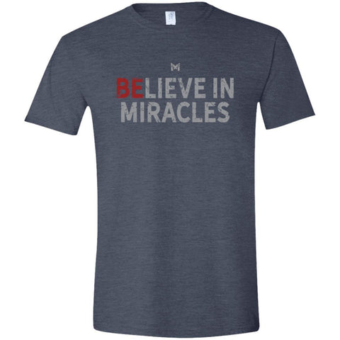 """Believe In Miracles"" Men's Shirts-Apparel-Softstyle T-Shirt-Heather Navy-S-The Miracles Store"