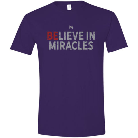 """Believe In Miracles"" Men's Shirts-Apparel-Softstyle T-Shirt-Purple-S-The Miracles Store"