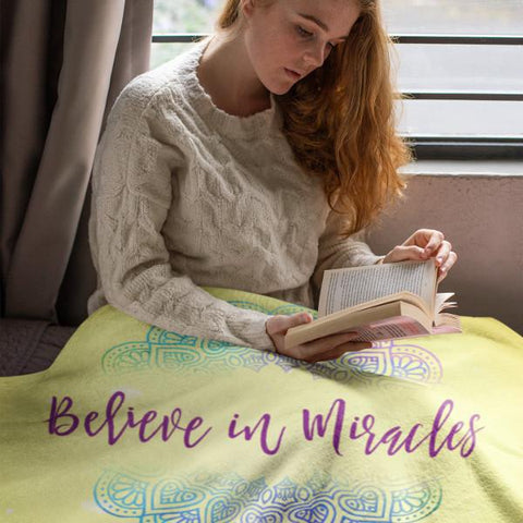 """Believe In Miracles"" Plush Fleece Blanket-Apparel-The Miracles Store"
