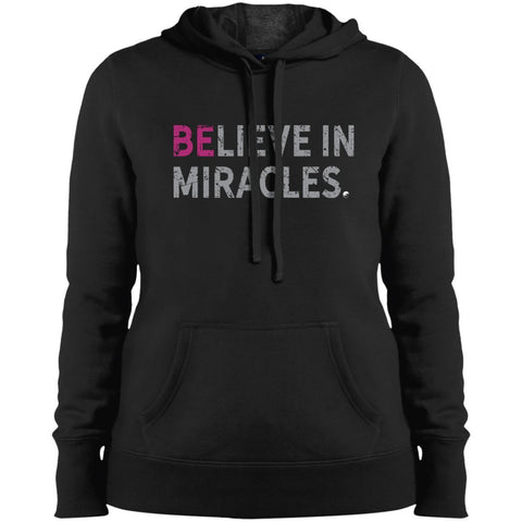 """Believe In Miracles"" - Shirts & Tank Tops for Women - Sporty Design - Apparel - Sweatshirt - Black - Small"