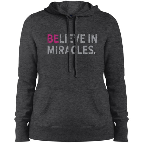 """Believe In Miracles"" - Shirts & Tank Tops for Women - Sporty Design - Apparel - Sweatshirt - Graphite Heather - Small"
