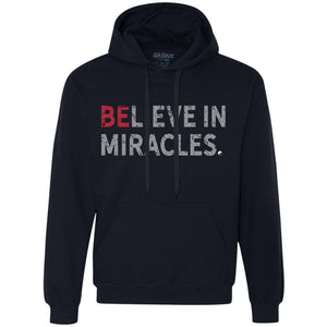 """Believe In Miracles"" - Sweatshirt Hoodie - Unisex - Apparel - Navy - Small -"