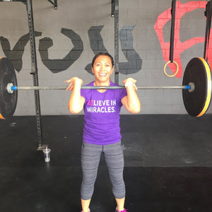 Believe In Miracles - Women's Short Sleeve Shirt - Customer Photo - Junie Pearson Crossfit