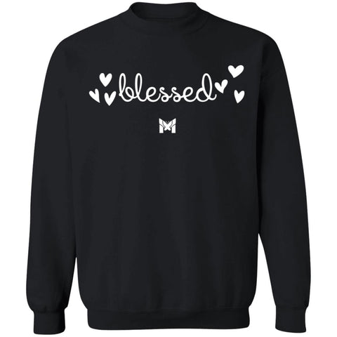 """Blessed"" Adult Crewneck Sweatshirt - Elegant-Sweatshirts-Dark Grey-S-The Miracles Store"