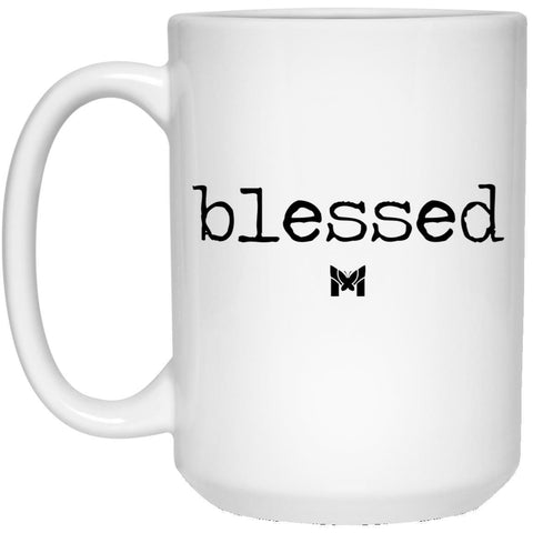 """Blessed"" Mug - Typewriting-Apparel-Default-White-Small (11oz)-The Miracles Store"