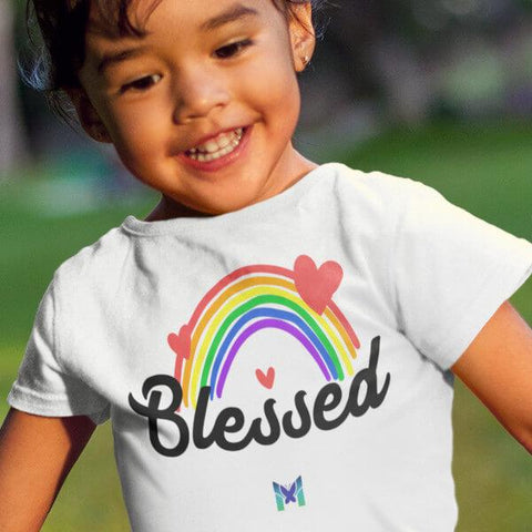 """Blessed"" T-Shirt For Kids & Toddlers-Apparel-The Miracles Store"
