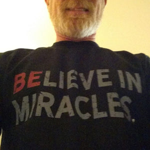 Believe In Miracles - Men's Black Long Sleeve Shirt - Customer Photo - Bret Hessenauer Sr.