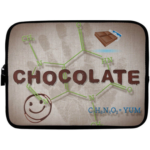 Chocolate Lovers Chocolate Molecule Laptop Cases - Apparel - Laptop Sleeve - 10 inch - White - One Size