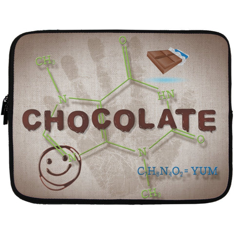 Chocolate Lovers Chocolate Molecule Laptop Cases - Apparel - Laptop Sleeve - 13 inch - White - One Size