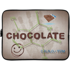 Chocolate Lovers Chocolate Molecule Laptop Cases - Apparel - Laptop Sleeve - 15 Inch - White - One Size