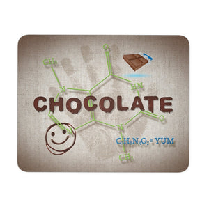 Chocolate Lovers Chocolate Molecule Mouse Pad - Mousepads - Chocolate Molecule - -