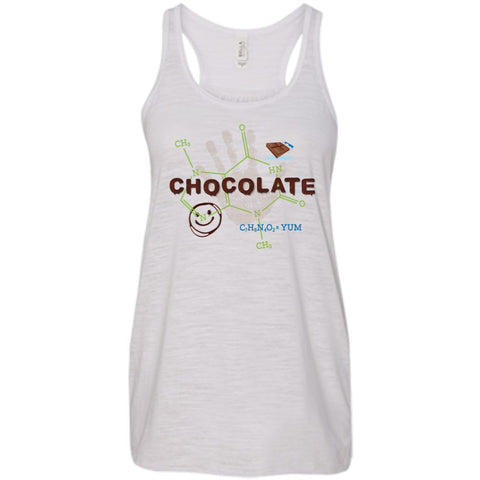 Chocolate Molecule T's & Tops - Apparel - Bella+Canvas Flowy Racerback Tank - Vintage White - X-Small