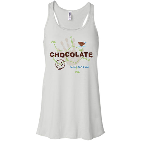 Chocolate Molecule T's & Tops - Apparel - Bella+Canvas Flowy Racerback Tank - White - X-Small