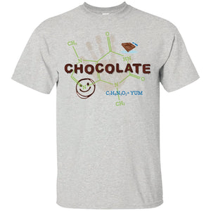 Chocolate Molecule T's & Tops - Apparel - Custom Ultra Cotton T-Shirt - Ash - Small