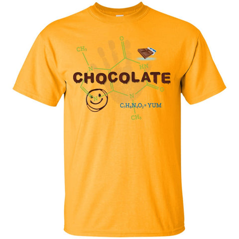 Chocolate Molecule T's & Tops - Apparel - Custom Ultra Cotton T-Shirt - Gold - Small