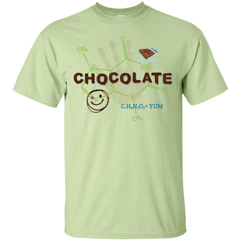 Chocolate Molecule T's & Tops - Apparel - Custom Ultra Cotton T-Shirt - Pistachio - Small