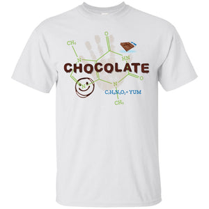 Chocolate Molecule T's & Tops - Apparel - Custom Ultra Cotton T-Shirt - White - Small