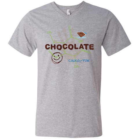 Chocolate Molecule T's & Tops - Apparel - Men's Printed V-Neck T - Heather Grey - Small