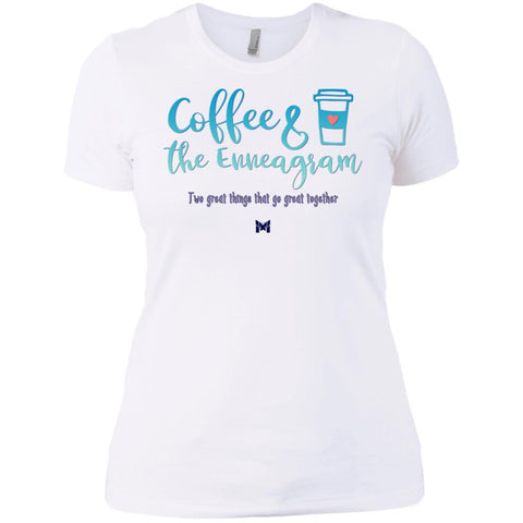 Coffee and the Enneagram - Women's Shirts-Apparel-Boyfriend Tee-White-X-Small-The Miracles Store