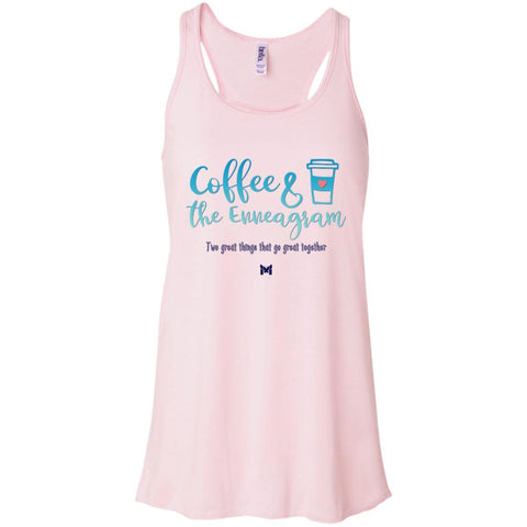 Coffee and the Enneagram - Women's Shirts-Apparel-Flowy Racerback-Soft Pink-X-Small-The Miracles Store
