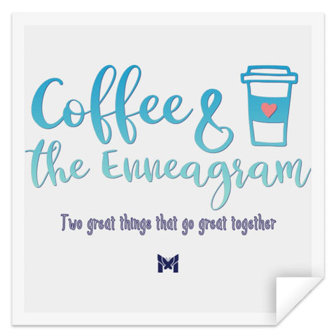 "Coffee & Enneagram - Sticker-Apparel-Small (3"" x 3"")-The Miracles Store"